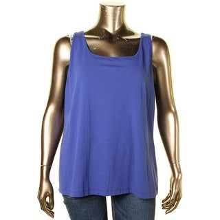 Nic+Zoe Womens Plus Tank Top Stretch Scoop Neck