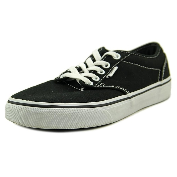 6f7b66fd61cd11 Shop Vans Atwood Low Women Round Toe Canvas Black Skate Shoe - Free ...