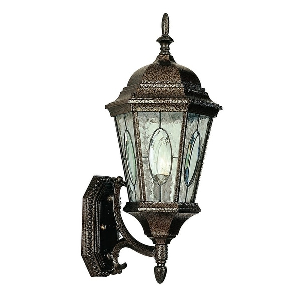 Trans Globe Lighting 4715 1-Light Up Lighting Outdoor Wall Sconce from the Outdoor Collection