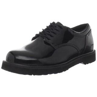 Bates Womens Uniform Patent Faux Leather Oxfords - 5.5 medium (b,m)