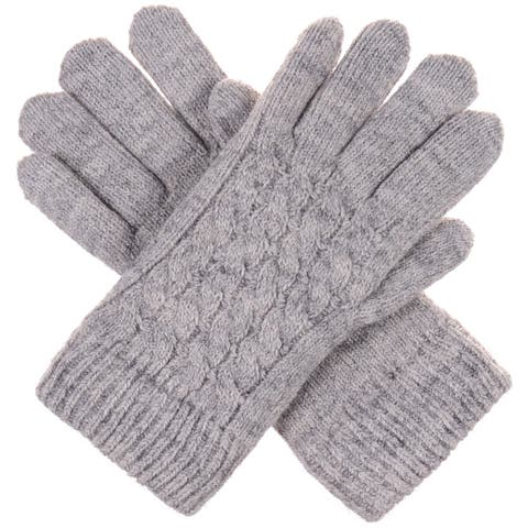 Women's Winter Classic Cable Ultra Warm Plush Fleece Lined Knit Gloves