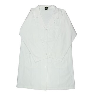 Natural Uniforms Womens Plus Lab Coat Long Button-Front - 3x