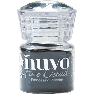 Nuvo Embossing Powder Fine Detail .68Oz-Jet Black