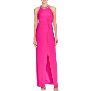 Laundry by Shelli Segal Womens Evening Dress Matte Jersey Embellished