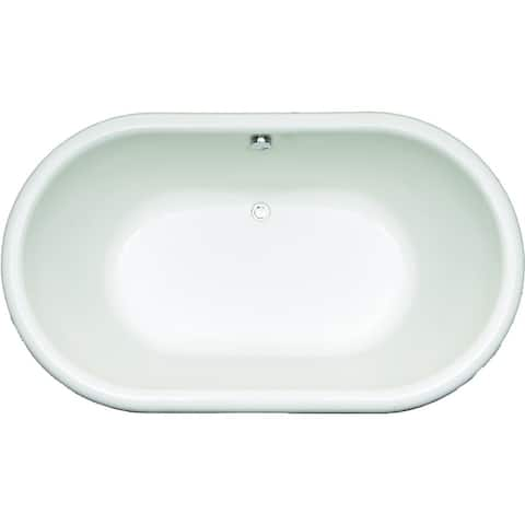 """Mirabelle MIRBRS6640V Boca Raton 66"""" X 40"""" Drop-In Soaking Tub with Center Hand Drain"""