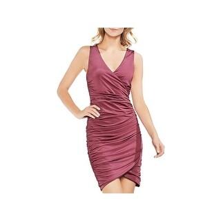 Vince Camuto Womens Cocktail Dress V-Neck Mini