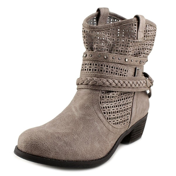 Not Rated Vanoora Women Round Toe Synthetic Gray Ankle Boot