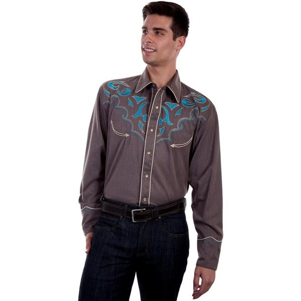 456cb98ed9 Shop Scully Western Shirt Mens Long Sleeve Snap Abstract Designs - Free  Shipping Today - Overstock.com - 18390232
