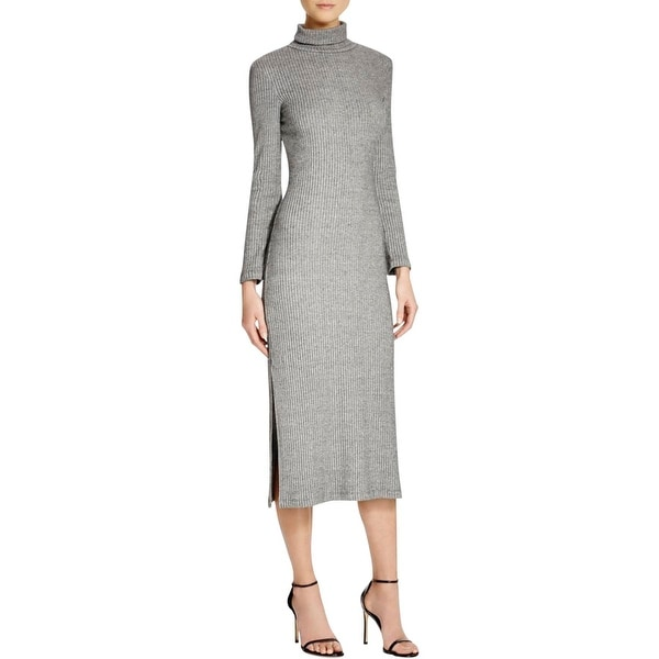 French Connection Womens Sweaterdress Side Slits Turtleneck