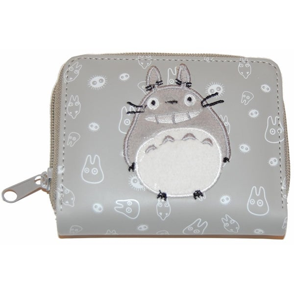 My Neighbor Totoro Embroidered Zipper Wallet - gray
