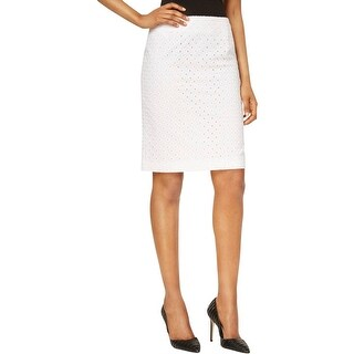 Nine West Womens Pencil Skirt Pointelle Lined