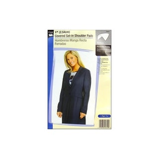 "Dritz Shoulder Pads Covered Set-In 1"" White"