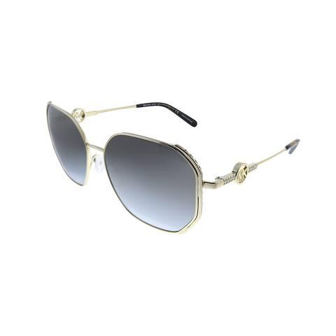 Michael Kors Santorini MK 1074B 10148G Womens Light Gold Frame Grey Gradient Lens Sunglasses