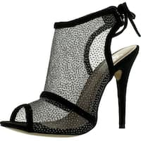 Easos Geal Eah-65121 Womens Ankle Cut Outs High Heel With Lace Loop On Back