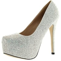Eye Candie Womens Celine-85W Shiny Platform Pumps Shoes