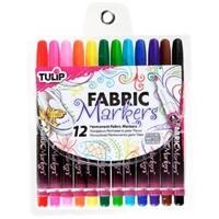 Assorted - Tulip Fine Fabric Markers 12/Pkg