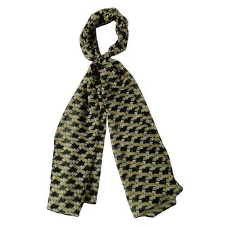 Cejon Women's Patterned Block Sheer Scarf (Black Multi, OS) - os