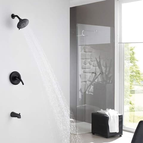PROOX Shower Faucet Set with Tub Spout Shower Tub Kit(Valve Included)