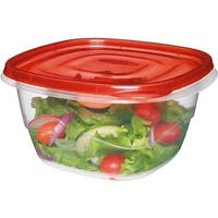Rubbermaid Home 4Pc Square Containers FG7F54RE-TCHIL Unit: EACH
