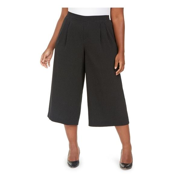 ANNE KLEIN Womens Black Polka Dot Wear To Work Pants Size 0X. Opens flyout.