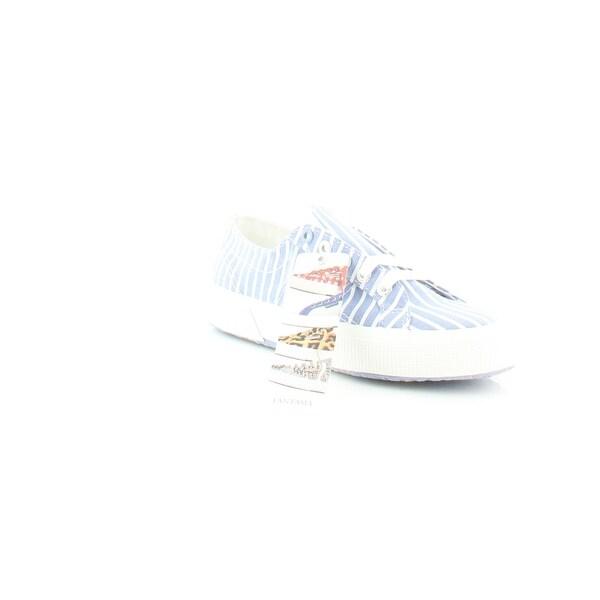 a489a3423306 Shop Superga 2750 Fabricshirtu Women s Fashion Sneakers Blue  White ...