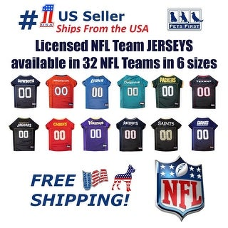 Pets First NFL Mesh Jersey for Dogs and Cats - Licensed.