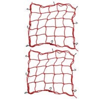 Unique Bargains 2 Pcs Red Universal Elasticated Car Boot Storage Luggage Organiser Cargo Net