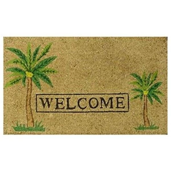 Home & More 12052 Palm Welcome Mat Vinyl Back Mat 18 X 30 Inches