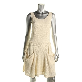 Free People Womens Lace Cut-Out Casual Dress
