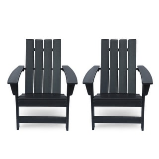 Link to Encino Outdoor Contemporary Adirondack Chair (Set of 2) by Christopher Knight Home Similar Items in Outdoor Sofas, Chairs & Sectionals