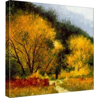 """PTM Images 9-97787  PTM Canvas Collection 12"""" x 12"""" - """"Fall Yellow"""" Giclee Forests Art Print on Canvas"""