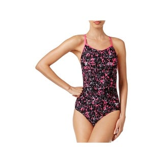 Speedo Womens Printed Strappy One-Piece Swimsuit (4 options available)