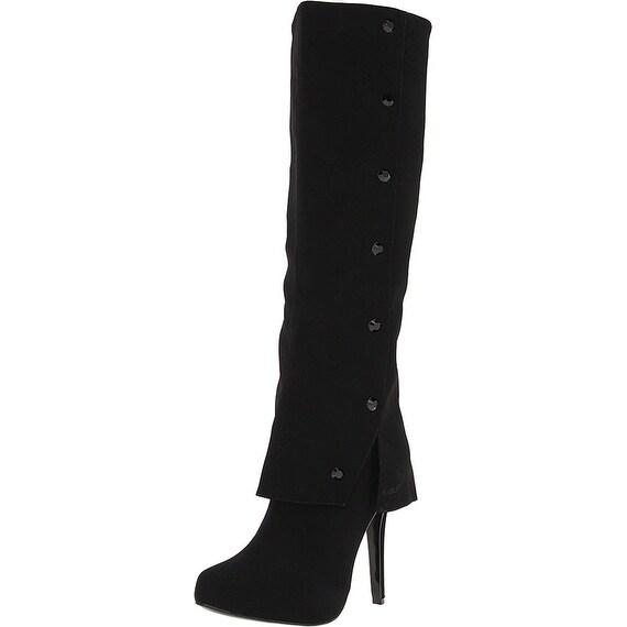 Nina Womens Gage-yy Pointed Toe Knee High Fashion Boots