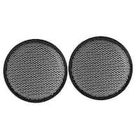"8.5"" Dia Metal Mesh Round Car Woofer Cover Speaker Grill Black 2 Pcs"