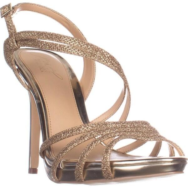 Jewel Badgley Mischka Humble Dress Sandals, Gold Glitter