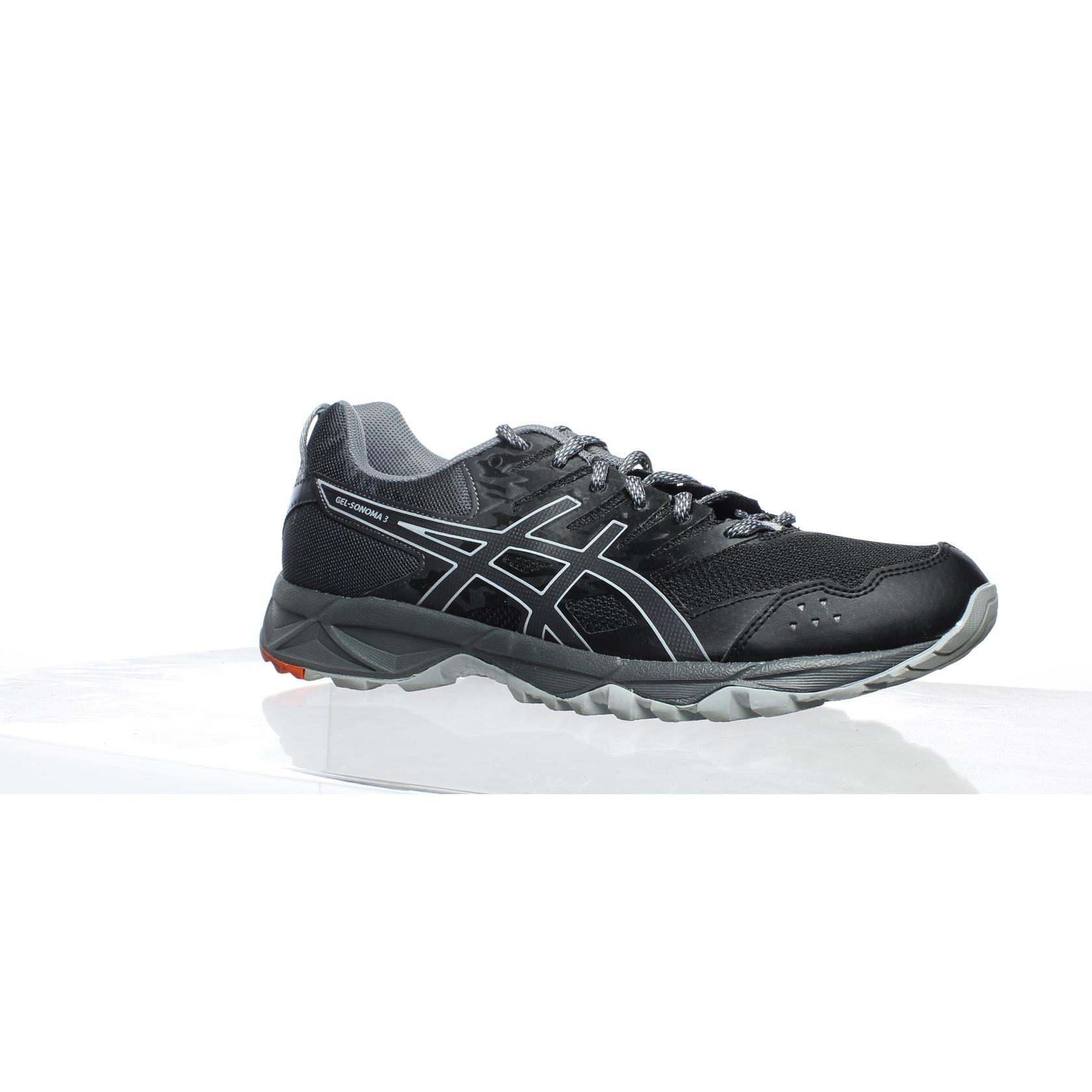ASICS Womens Gel Sonoma 3 BlackDark Grey Running Shoes Size 11