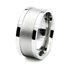 10mm Satin Finished Center Stainless Steel Band (Sizes 8-12 )