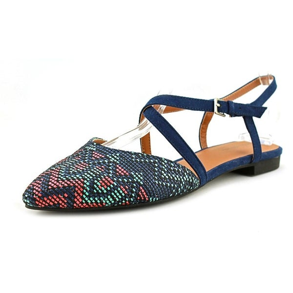 Indigo Rd. GENETIC 4 Women Open Toe Canvas Tan Sandals