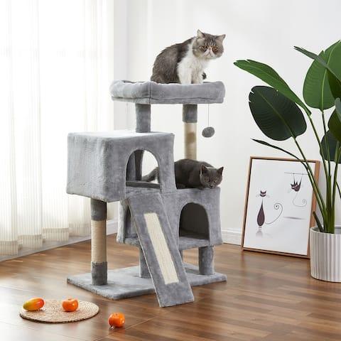 Cat Tree Apartment with Sisal Grab Bar
