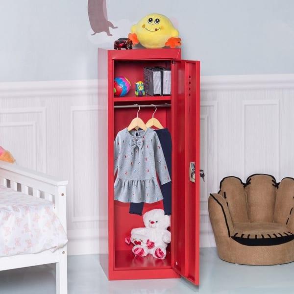 Shop Costway 48\'\' Kid Locker Safe Storage Children Single ...