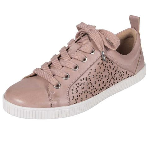 Earth Womens Tangor Leather Low Top Lace Up Fashion Sneakers