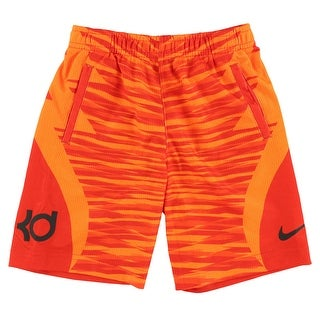 Nike Boys Kevin Durant Klutch Elite Shorts Orange - 4