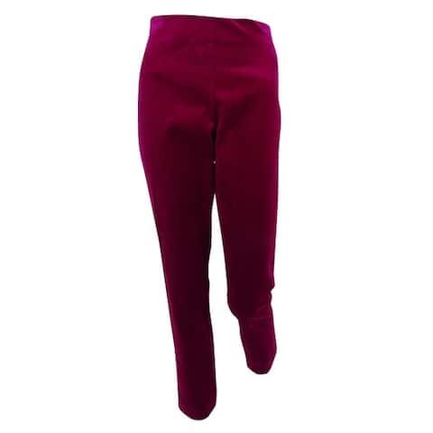 Ralph Lauren Women's Stretch Velvet High-Rise Skinny Pants - Winter Violet