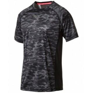 Puma NEW Black Mens Size Large L DryCell Multi Printed Shirts & Tops