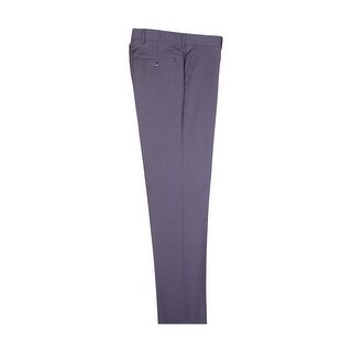 Gray Slim Fit Dress Pants Pure Wool by Tiglio Luxe