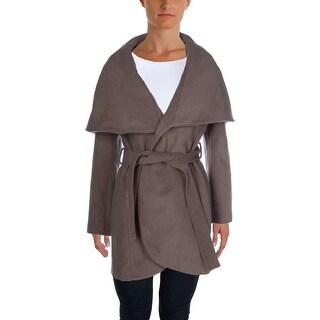 T Tahari Womens Marla Trench Coat Winter Wool