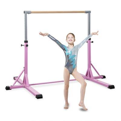 Horizontal Gymnastics Bar for Kids, Adjustable Junior Training Bar