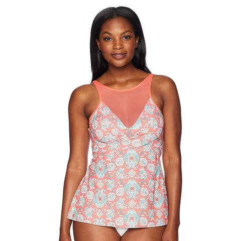 Coco Reef Women's Tankini Top Swimsuit with Underwire and, Tangerine 1, Size 36C