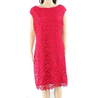 Lauren By Ralph Lauren Rose Melon Womens Sheath Dress