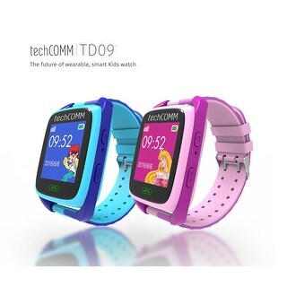 TechComm TD-09 Kids Smart Watch GPS and Fitness Tracker, Call & Text